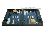 picture of 19-inch Black Backgammon Set - Blue (4 of 12)