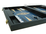 19-inch Black Backgammon Set - Blue