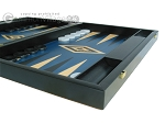 picture of 19-inch Black Backgammon Set - Blue (6 of 12)