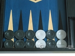 picture of 19-inch Black Backgammon Set - Blue (8 of 12)