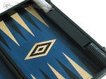 picture of 19-inch Black Backgammon Set - Blue (10 of 12)