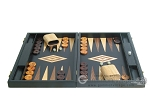 picture of 19-inch Black Backgammon Set - Olive Wood Checkers (4 of 12)
