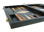 picture of 19-inch Black Backgammon Set - Olive Wood Checkers (5 of 12)