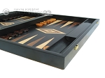 picture of 19-inch Black Backgammon Set - Olive Wood Checkers (6 of 12)