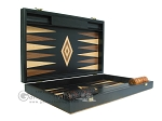 picture of 19-inch Black Backgammon Set - Olive Wood Checkers (7 of 12)