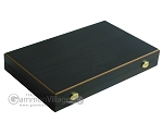 picture of 19-inch Black Backgammon Set - Olive Wood Checkers (9 of 12)