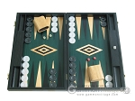 picture of 19-inch Black Backgammon Set - Green (1 of 12)