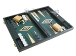 picture of 19-inch Black Backgammon Set - Green (2 of 12)