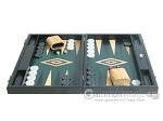 picture of 19-inch Black Backgammon Set - Green (4 of 12)