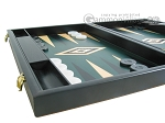 picture of 19-inch Black Backgammon Set - Green (5 of 12)
