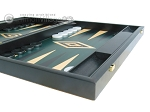 picture of 19-inch Black Backgammon Set - Green (6 of 12)