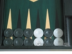 picture of 19-inch Black Backgammon Set - Green (8 of 12)