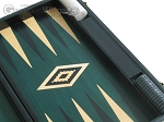 picture of 19-inch Black Backgammon Set - Green (10 of 12)