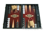 picture of 19-inch Black Backgammon Set - Red (1 of 12)