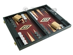 picture of 19-inch Black Backgammon Set - Red (2 of 12)