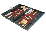 picture of 19-inch Black Backgammon Set - Red (3 of 12)