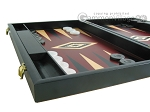 picture of 19-inch Black Backgammon Set - Red (5 of 12)