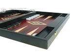 picture of 19-inch Black Backgammon Set - Red (6 of 12)