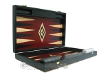 picture of 19-inch Black Backgammon Set - Red (7 of 12)