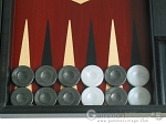 picture of 19-inch Black Backgammon Set - Red (8 of 12)