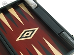 picture of 19-inch Black Backgammon Set - Red (10 of 12)