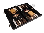 picture of 15-inch Black Backgammon Set - Black Field (2 of 11)