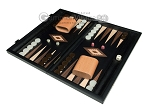 picture of 15-inch Black Backgammon Set - Black Field (1 of 11)