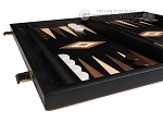 15-inch Black Backgammon Set - Black Field