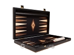 picture of 15-inch Black Backgammon Set - Black Field (10 of 12)