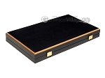 15-inch Black Backgammon Set - Black Field - Item: 2875