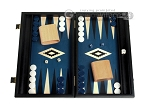 picture of 15-inch Black Backgammon Set - Blue Field (1 of 12)