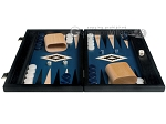 picture of 15-inch Black Backgammon Set - Blue Field (4 of 12)