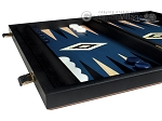 picture of 15-inch Black Backgammon Set - Blue Field (5 of 12)