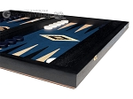 picture of 15-inch Black Backgammon Set - Blue Field (6 of 12)