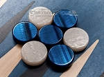 picture of 15-inch Black Backgammon Set - Blue Field (7 of 12)