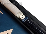 picture of 15-inch Black Backgammon Set - Blue Field (8 of 12)