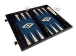 picture of 15-inch Black Backgammon Set - Blue Field (9 of 12)