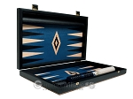 picture of 15-inch Black Backgammon Set - Blue Field (10 of 12)