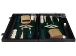 picture of 15-inch Black Backgammon Set - Green Field (3 of 11)