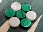 picture of 15-inch Black Backgammon Set - Green Field (6 of 11)