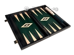 picture of 15-inch Black Backgammon Set - Green Field (9 of 12)