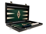 picture of 15-inch Black Backgammon Set - Green Field (10 of 12)
