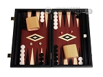 15-inch Black Backgammon Set - Red Field - Item: 2876