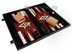 picture of 15-inch Black Backgammon Set - Red Field (2 of 11)