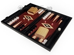 picture of 15-inch Black Backgammon Set - Red Field (1 of 11)