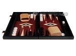 picture of 15-inch Black Backgammon Set - Red Field (4 of 12)