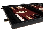 picture of 15-inch Black Backgammon Set - Red Field (4 of 11)
