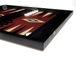 picture of 15-inch Black Backgammon Set - Red Field (6 of 12)
