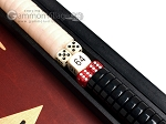 picture of 15-inch Black Backgammon Set - Red Field (8 of 12)