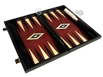 picture of 15-inch Black Backgammon Set - Red Field (8 of 11)
